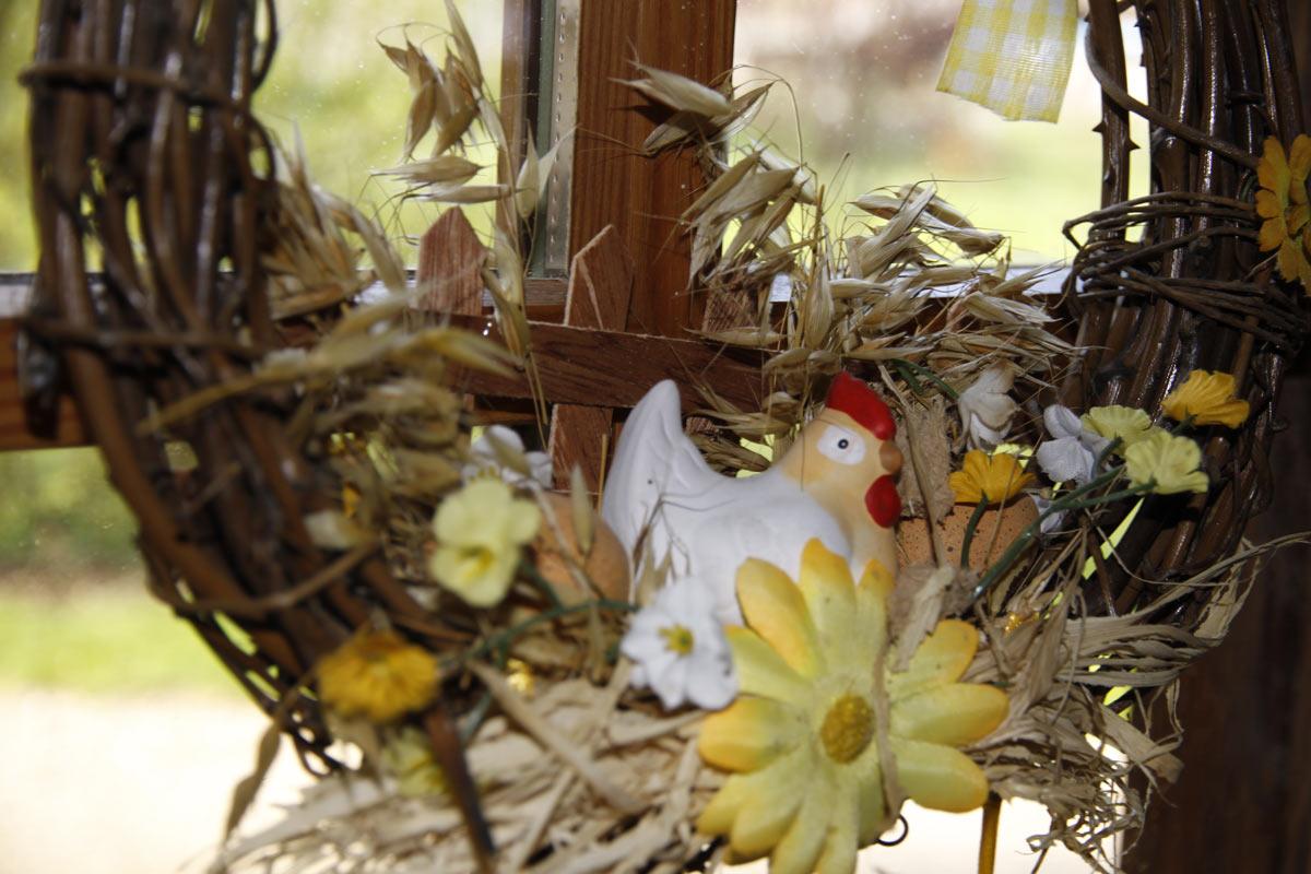 La visite des petits lapins pour Pâques
